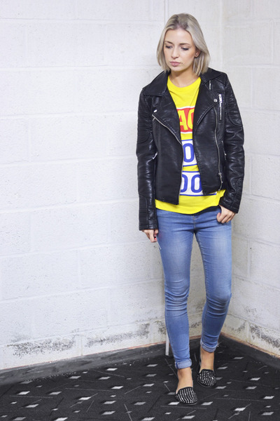 asos jeans - Zara jacket - back t-shirt