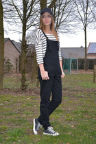 Amazon hat - asos romper - Converse sneakers - h&m divided top