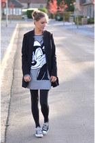Zara dress - H&M blazer - Converse sneakers