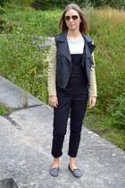 romwe jacket - Ray Ban sunglasses - asos romper - Zara loafers