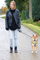 Dr Martens boots - Bershka jeans - Mango jacket - mbym sweater