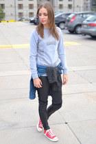 asos jacket - Converse sneakers - Bershka sweatshirt