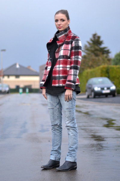 Zara jacket - h&m divided boots - Zara jeans