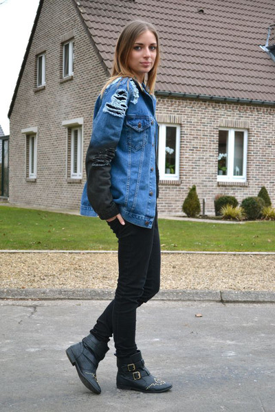 asos jacket - Amazon boots - H&M sweater - Zara pants