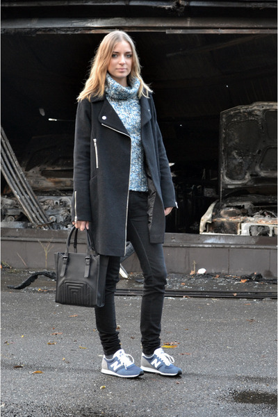 Zara bag - asos coat - New Balance sneakers