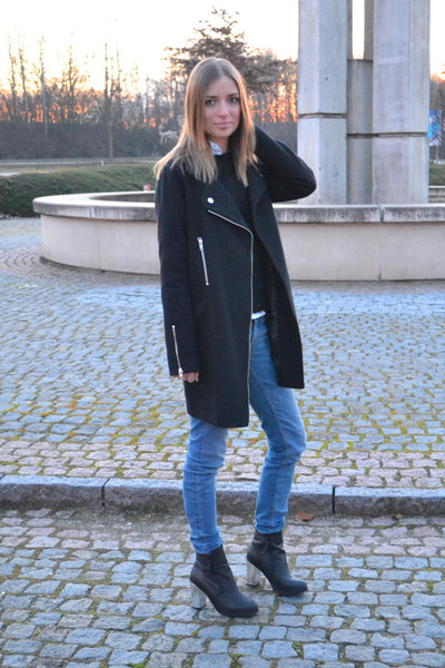 H&M sweater - Urban Outfitters boots - asos coat - Zara jeans