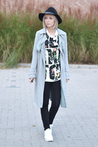 H&M hat - asos coat - Zara jeans - 31 Phillip Lim top - Reebok sneakers