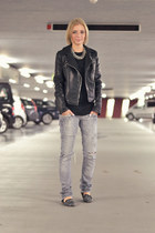 Zara jeans - Zara jacket - Zara loafers - asos t-shirt