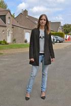 H&M coat - Zara jeans