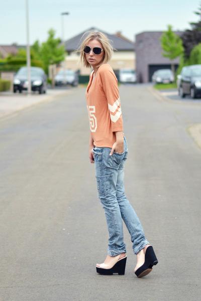 Zara jeans - Nelly top - Zara wedges
