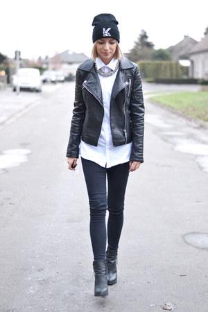 asos jeans - Karl Lagerfeld hat - Zara jacket - Primark shirt