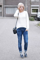 new look jumper - Zara jeans - Sammy Icon socks