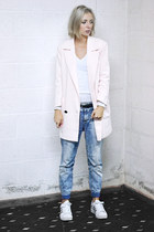 pull&bear jeans - Zara sweater - Only blazer - Adidas sneakers