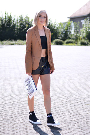 Zara bag - Bershka blazer - River Island shorts - asos socks - asos top