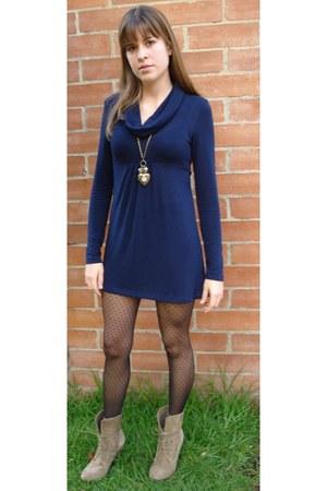 Forever 21 dress - Zara boots - windsor accessories
