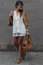 BLANCO jacket - tory burch bag - Zara wedges