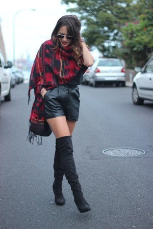 Topshop boots - pull&bear scarf