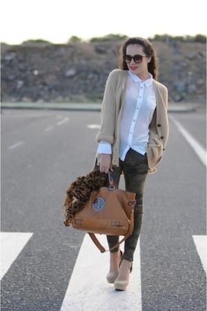 tory burch bag - Zara pants