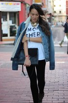 white River Island t-shirt - blue BLANCO jacket