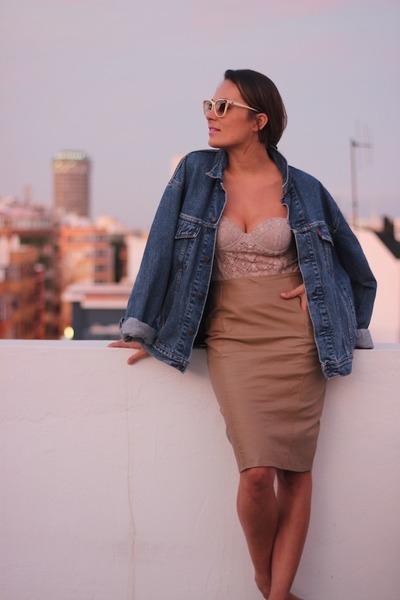 vintage skirt - Levis jacket