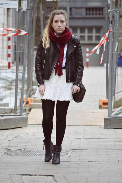jacket - boots - scarf - bag - blouse