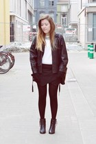 t2 jacket - Eram boots - Zara bag - Zara skirt - H&M necklace