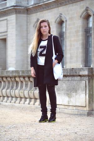 Zara coat - pull&bear jeans - Zara sweater