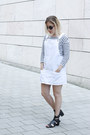 Mango-dress-zara-sunglasses-zara-jumper-bershka-sandals
