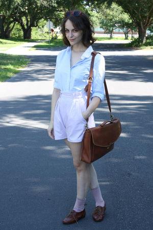 brown vintage sunglasses - blue American Eagle blouse - pink httpstoresebaycomTw