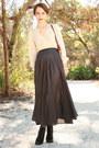 Ivory-vintage-blouse-black-httpstoresebaycomtwitchvintage-skirt-maroon-thrif