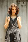 Black-thrifted-blouse-black-httpstoresebaycomtwitchvintage-shorts-gray-forev