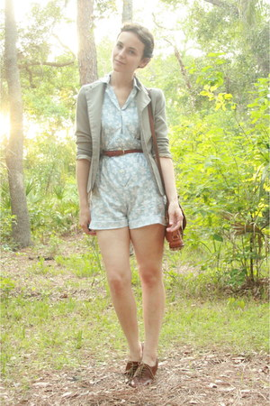 tan shrunken fit thrifted blazer - brown cross body thrifted Dooney &amp; Bourke pur