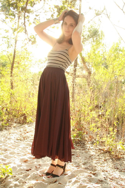 purple sheer maxi Rock Paper Vintage skirt - black Zara clogs