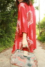 Ruby-red-draped-printed-twitch-vintage-jacket-black-forever-21-boots