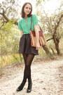 Black-lace-up-forever-21-boots-aquamarine-keyhole-httpstoresebaycomtwitchvinta