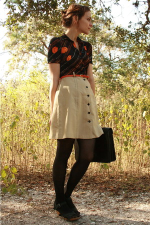 tan poppy print httpstoresebaycomTwitchVintage dress - black Betsey Johnson tigh