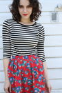Black-target-t-shirt-red-httpstoresebaycomtwitchvintage-skirt-black-dolce-vi