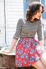 Black-target-t-shirt-red-httpstoresebaycomtwitchvintage-skirt-black-dolce-vi
