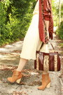 Brick-red-snakeskin-thrifted-purse-tan-suede-leather-asos-boots