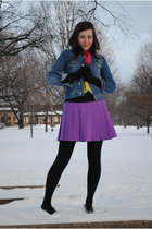 Gap scarf - purple thrifted skirt - black Erin Fetherston for Target shirt - bla