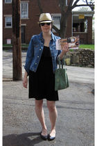 black Old Navy dress - beige payless hat