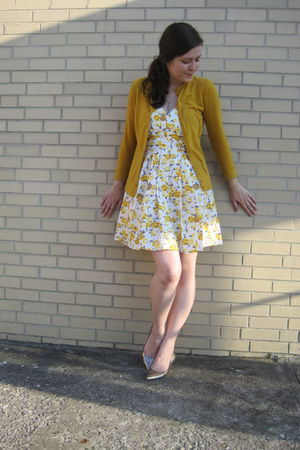 yellow Target cardigan - gold Boutique 9 shoes - yellow Ross dress