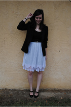 black thrifted blazer - black Forever 21 top - white Goodwill skirt - black Stev