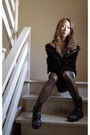 Spring-boots-forever21-dress-furry-nine-west-jacket