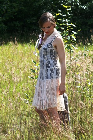 free people dress - Steve Madden shoes - elle vest - vintage bodysuit