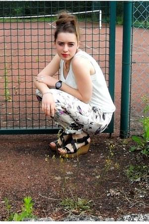 eggshell Cherry Couture Paris pants - light blue The Kooples top
