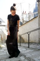 black Chinatown skirt - dark green Jeffrey Campbell boots
