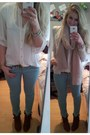 Brown-shoe-outlet-boots-light-blue-mint-skinny-zara-jeans