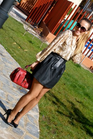 new collection Lefties skirt - old Mango shoes - new collection Sfera bag