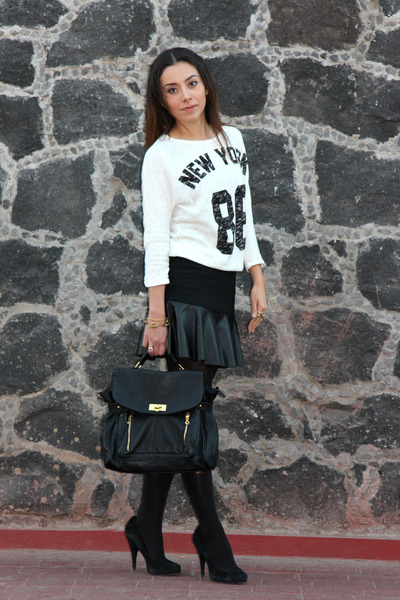 black Steve Madden shoes - black Pull & Bear bag